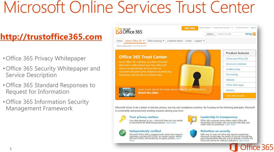 Whitepaper and Service Description Office 365 Standard