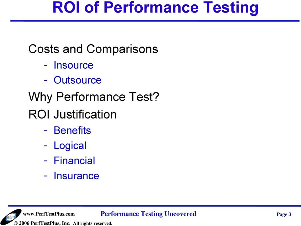 ROI Justification - Benefits - Logical -