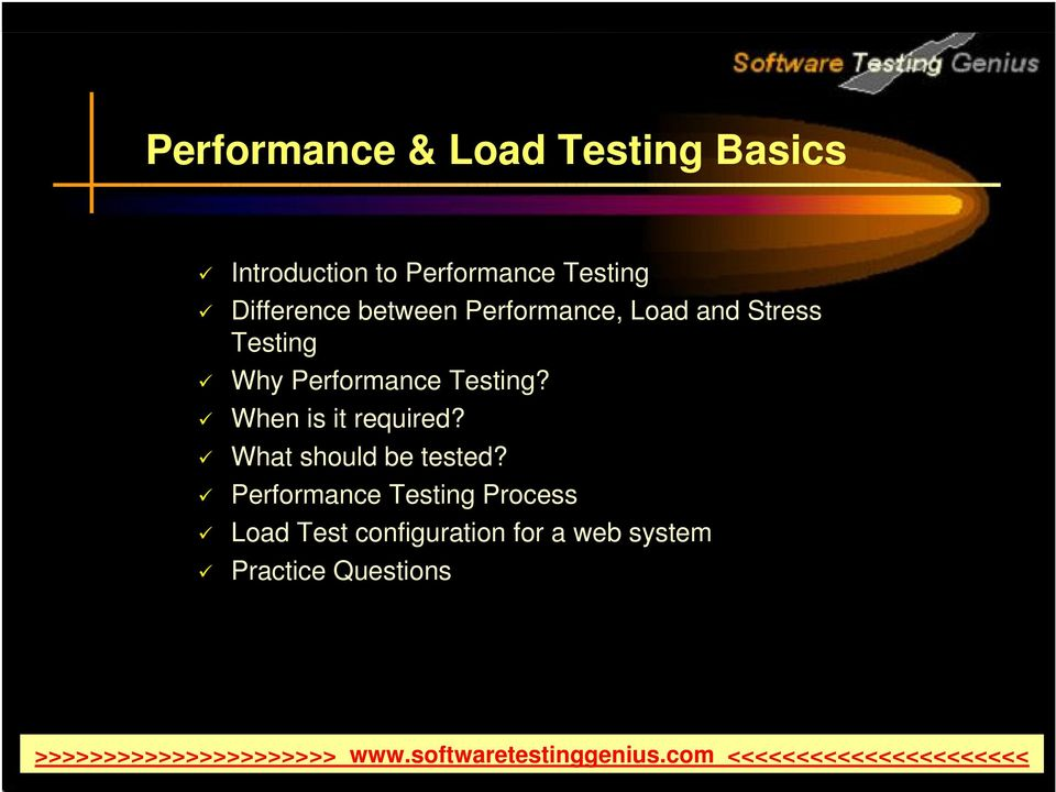Performance Testing? When is it required? What should be tested?