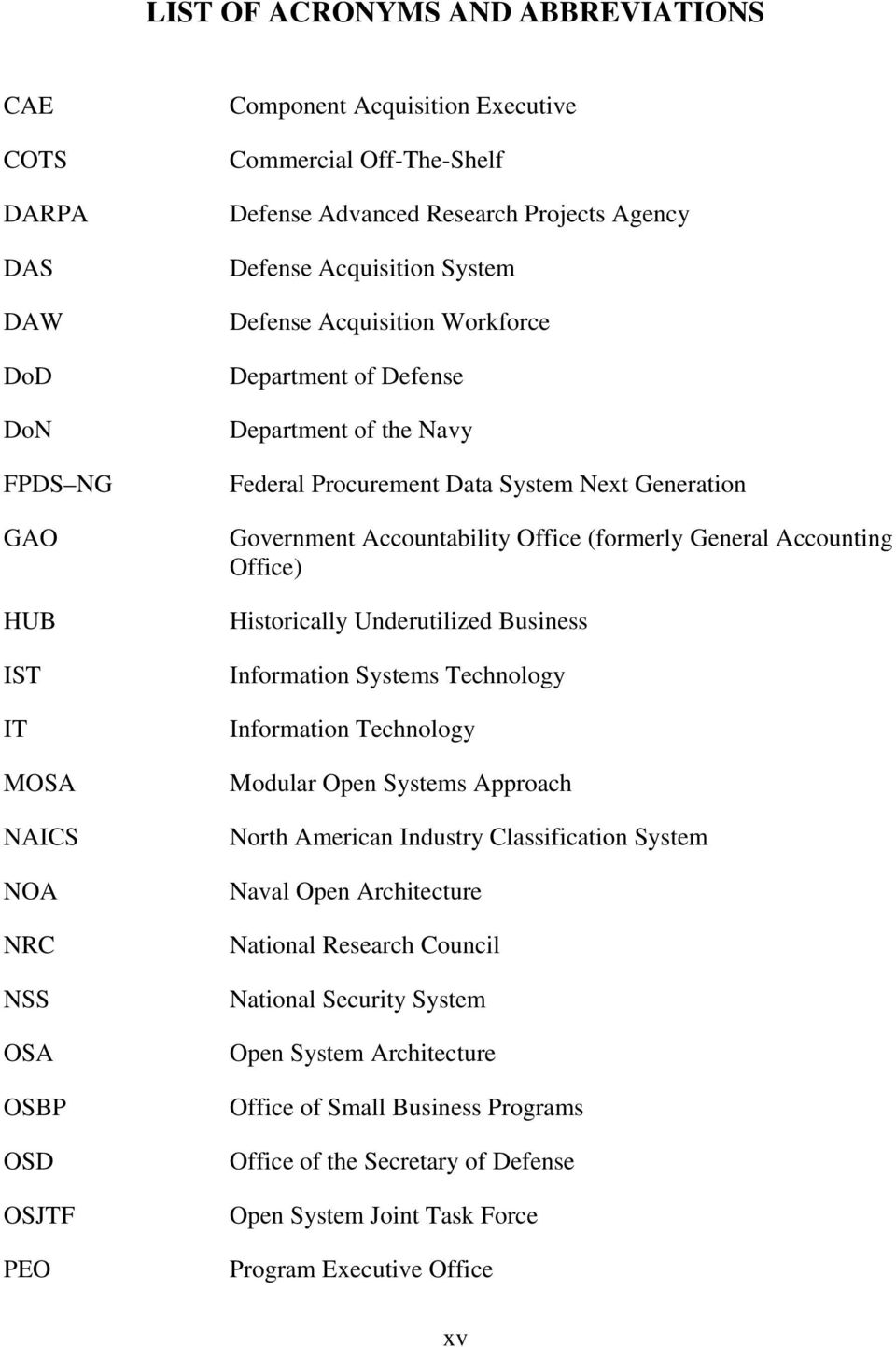 Accountability Office (formerly General Accounting Office) Historically Underutilized Business Information Systems Technology Information Technology Modular Open Systems Approach North American