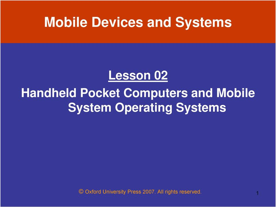 System Operating Systems Oxford