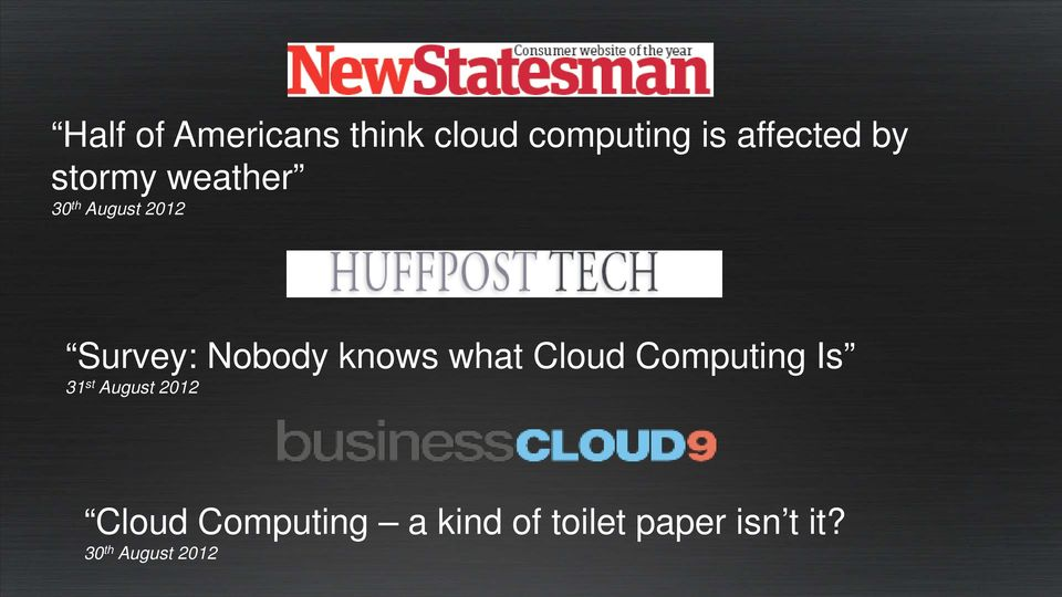 what Cloud Computing Is 31 st August 2012 Cloud
