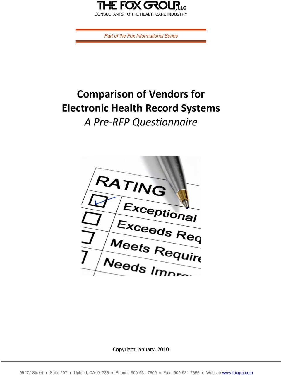 Comparison of Vendors for Electronic Health Record Systems A