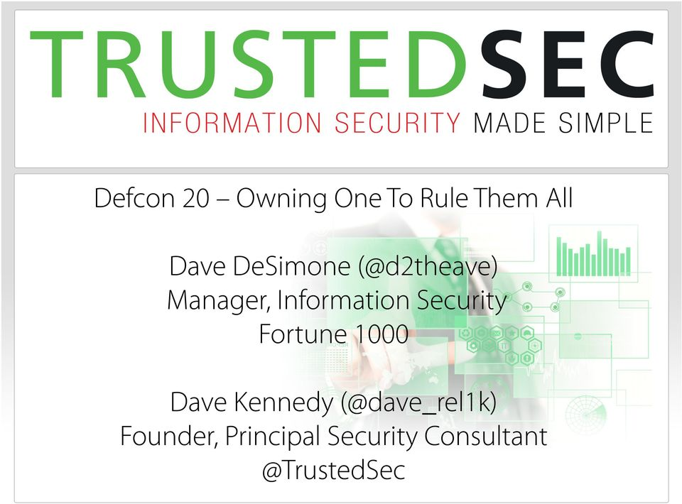 Security Fortune 1000 Dave Kennedy