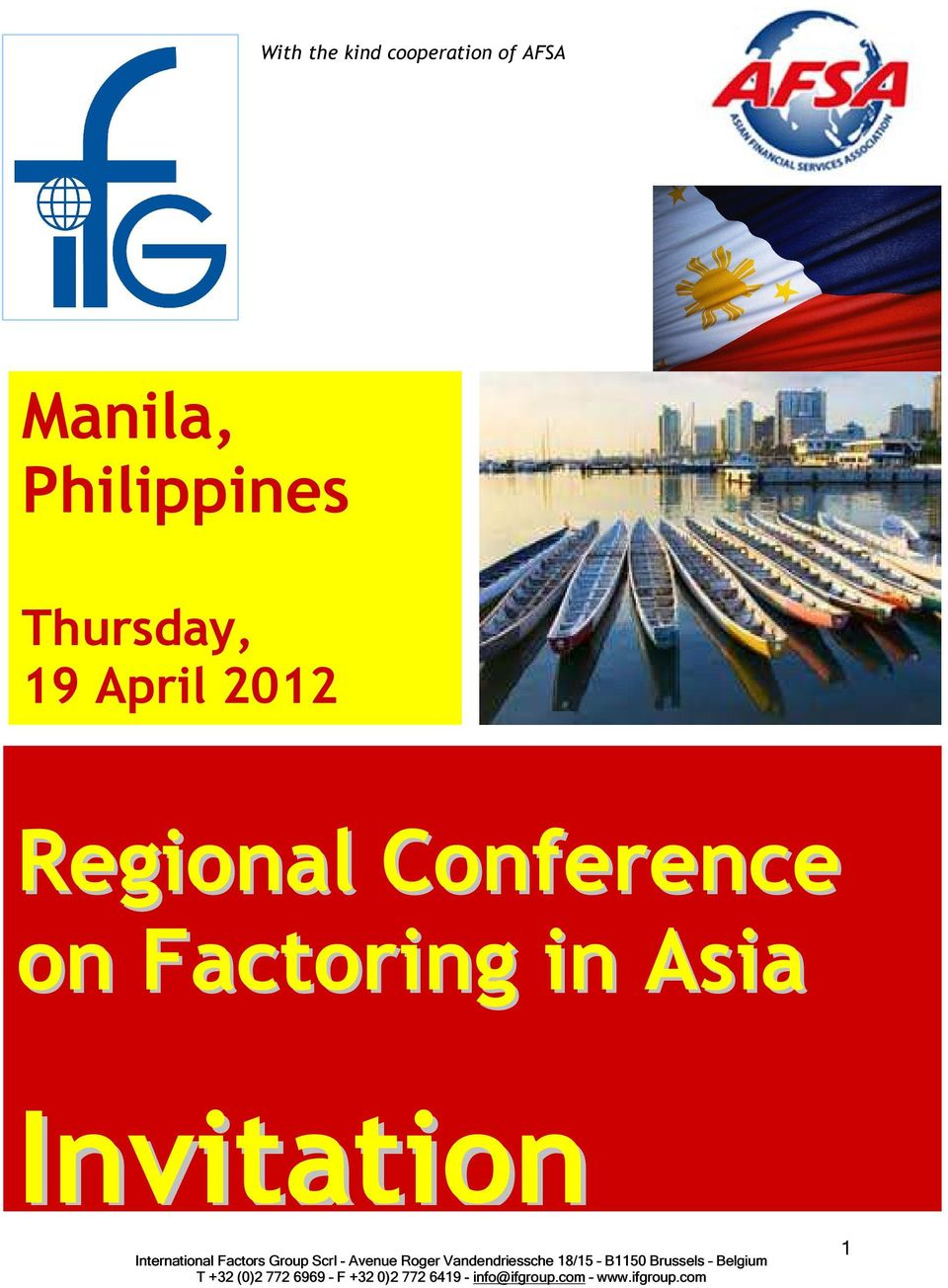 Thursday, 19 April 2012 Regional