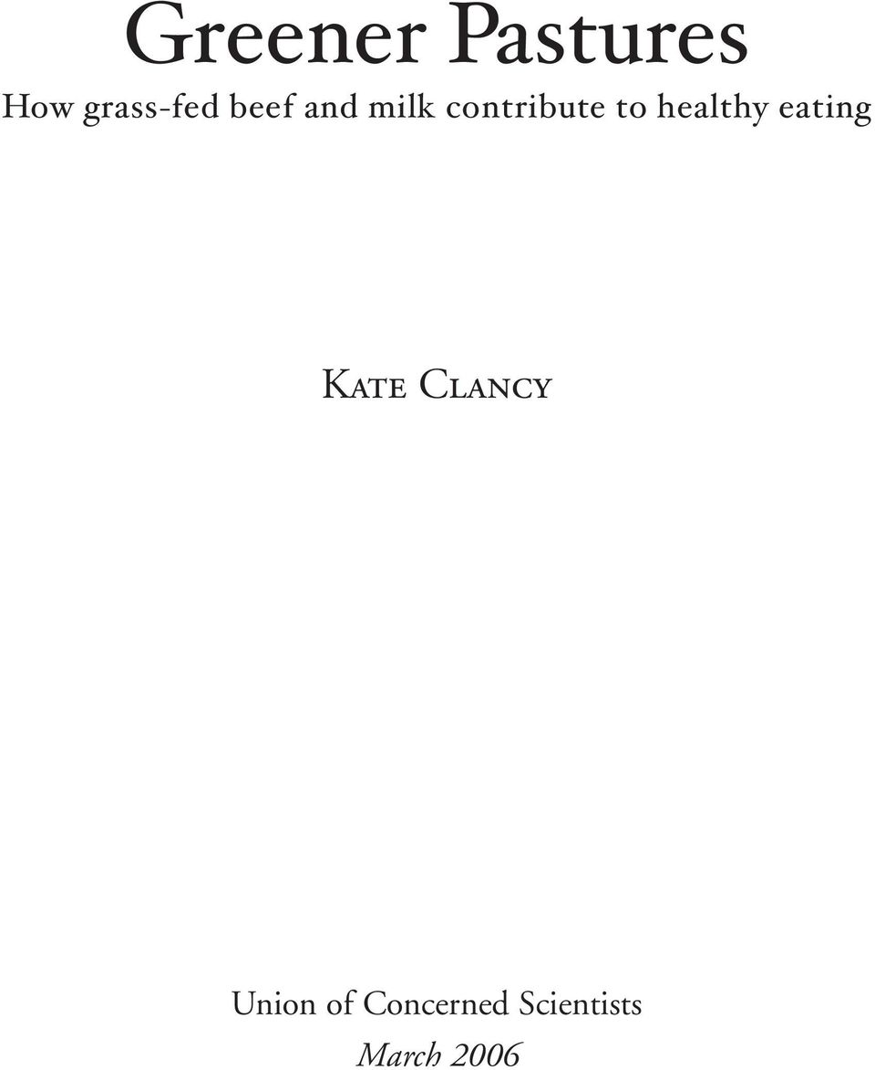 eating Kate Clancy Union of