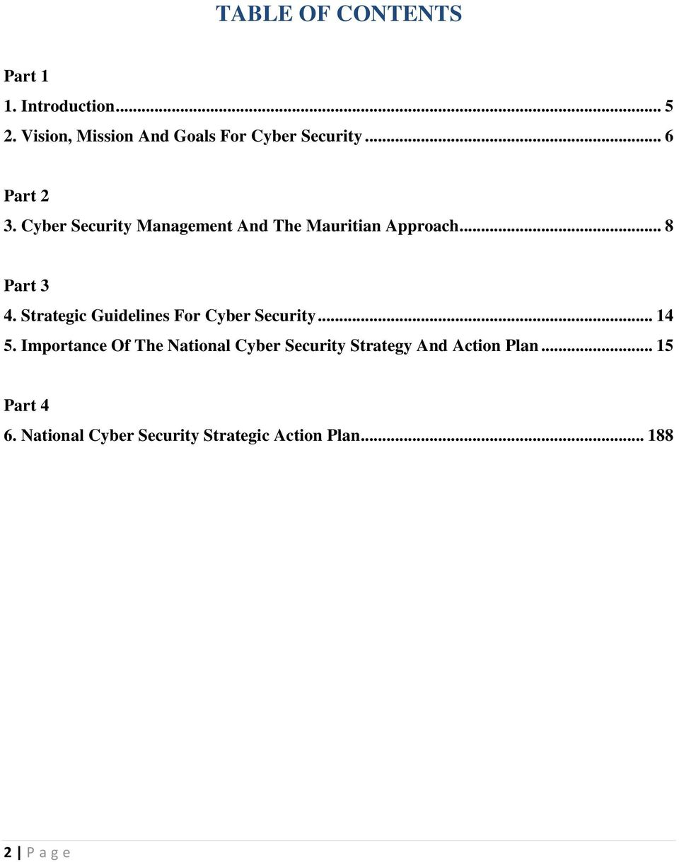 Cyber Security Management And The Mauritian Approach... 8 Part 3 4.