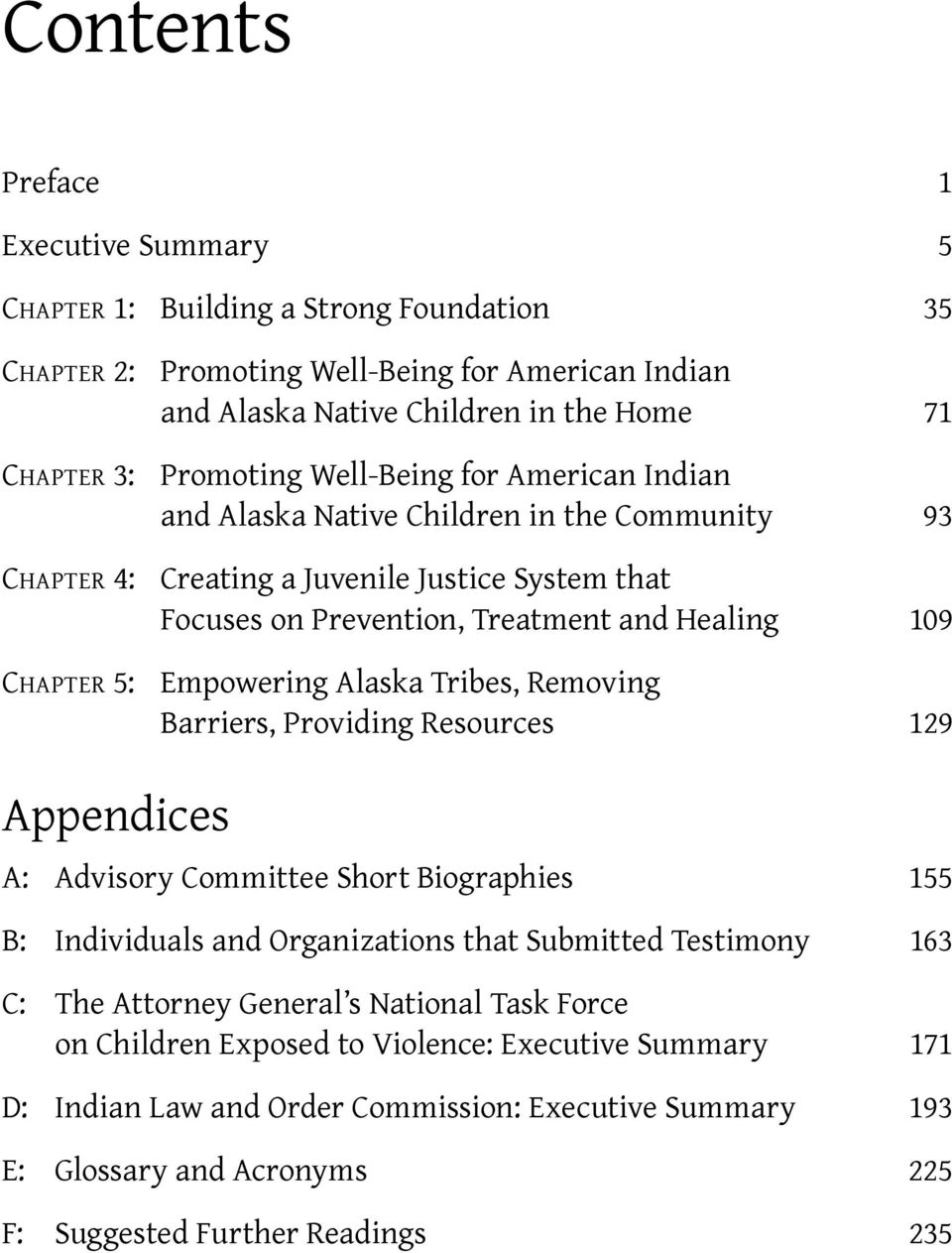 Empowering Alaska Tribes, Removing Barriers, Providing Resources 129 Appendices A: Advisory Committee Short Biographies 155 B: Individuals and Organizations that Submitted Testimony 163 C: The
