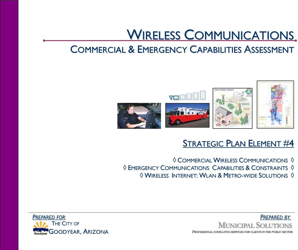 COMMUNICATIONS CAPABILITIES & CONSTRAINTS WIRELESS INTERNET: WLAN &