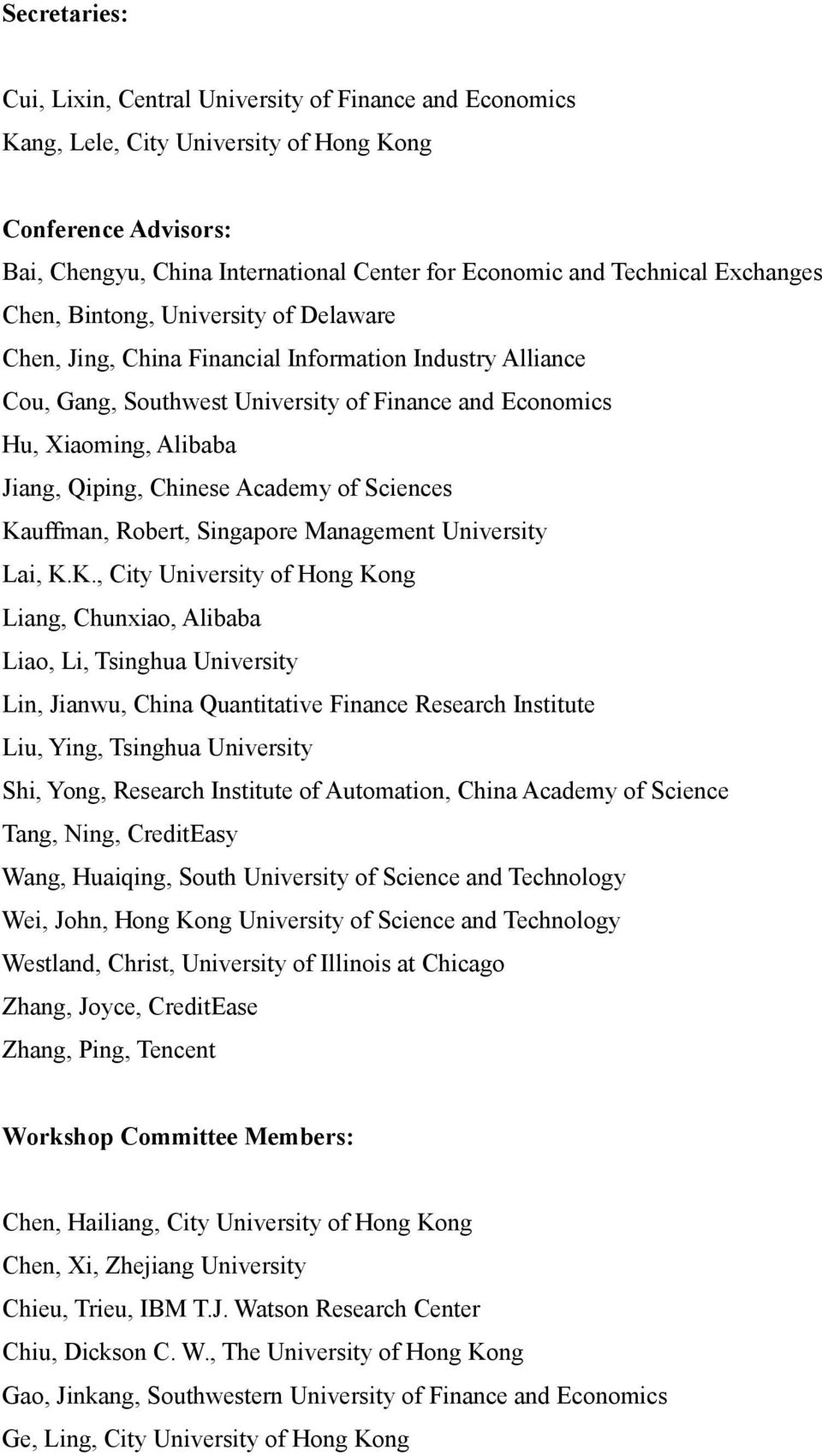 Chinese Academy of Sciences Ka