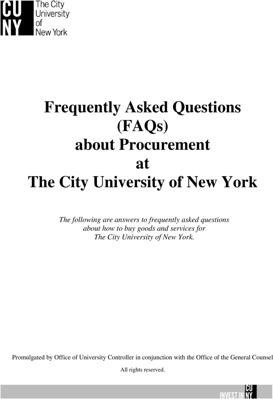 and services for The City University of New York.