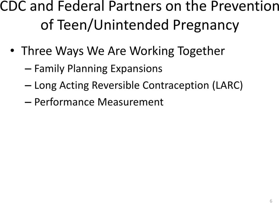Working Together Family Planning Expansions Long