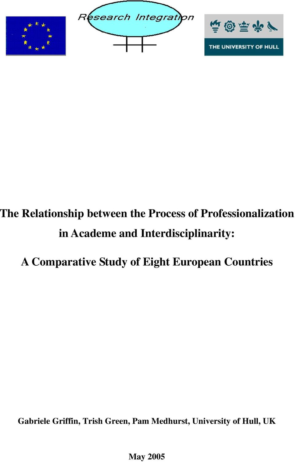 Interdisciplinarity: A Comparative Study of Eight