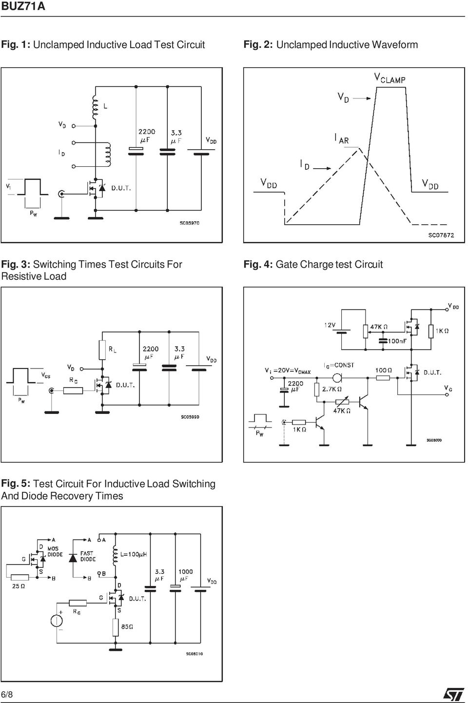 3: Switching Times Test Circuits For Resistive Load Fig.