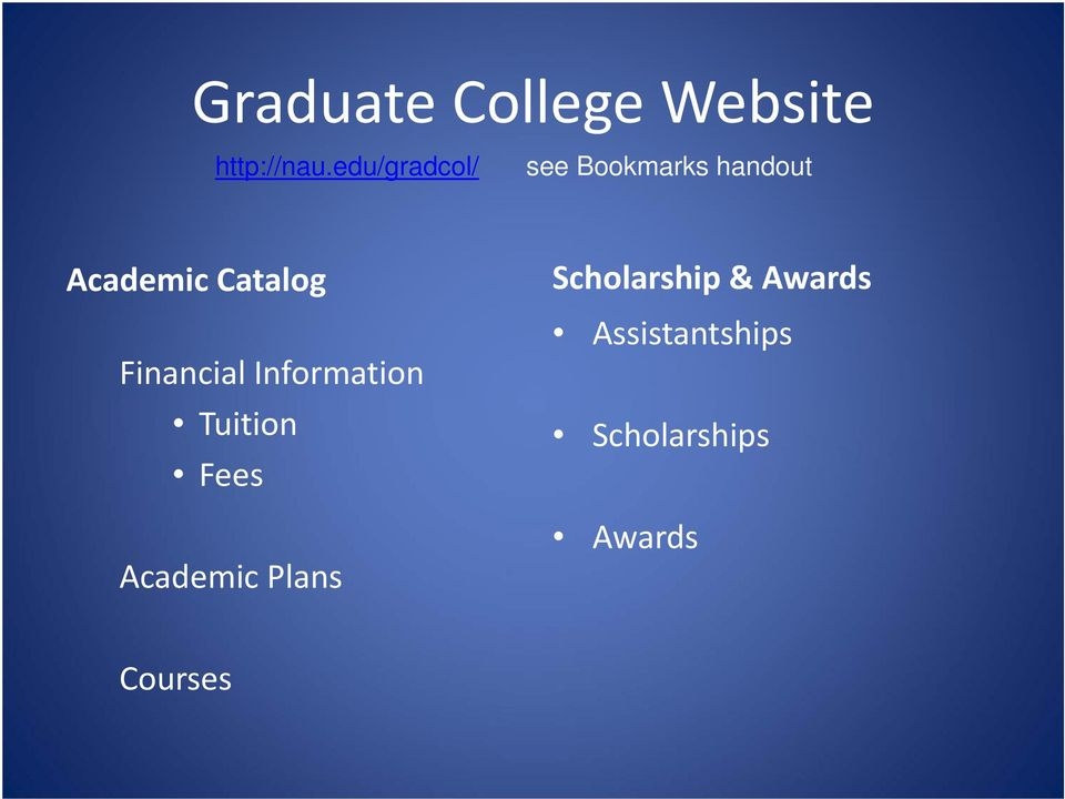 Catalog Financial Information Tuition Fees