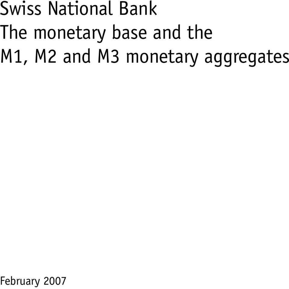 and M3 monetary aggregates