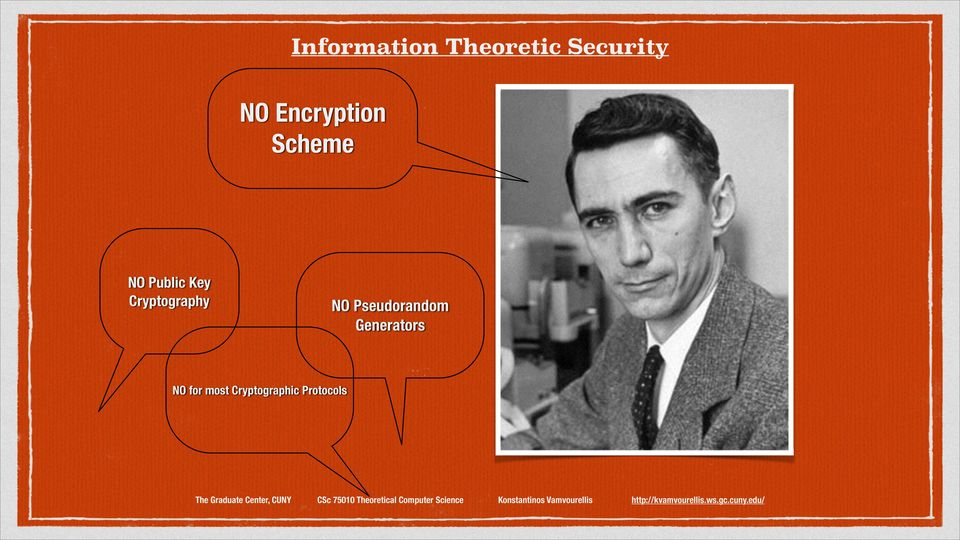 Cryptography NO Pseudorandom