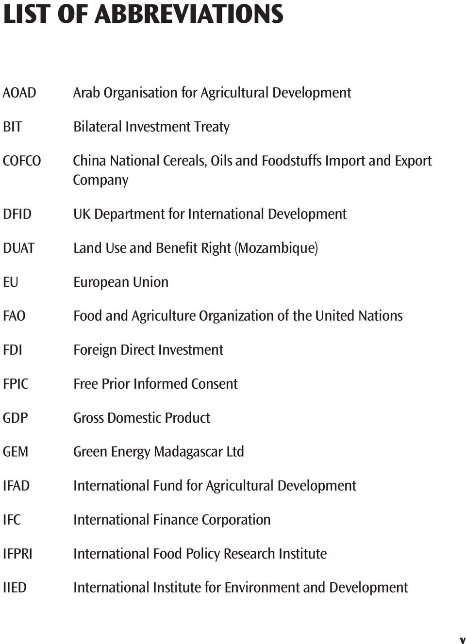 Food and Agriculture Organization of the United Nations Foreign Direct Investment Free Prior Informed Consent Gross Domestic Product Green Energy Madagascar Ltd