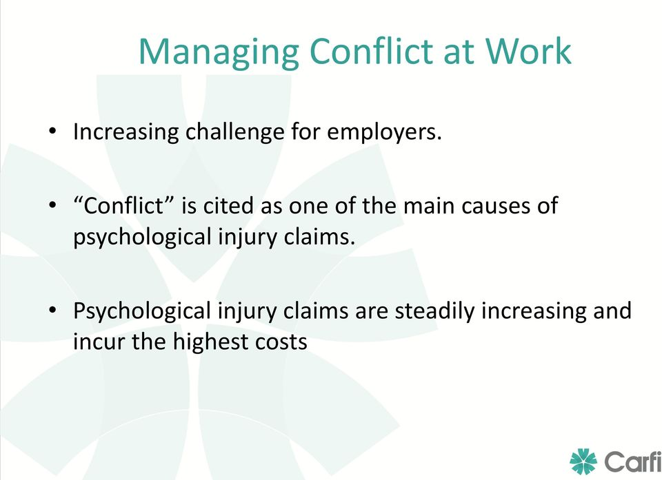Conflict is cited as one of the main causes of