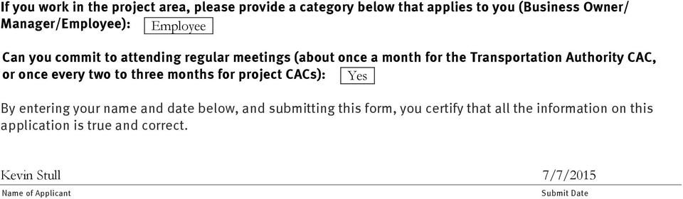 every two to three months for project CACs): Yes By entering your name and date below, and submitting this form, you