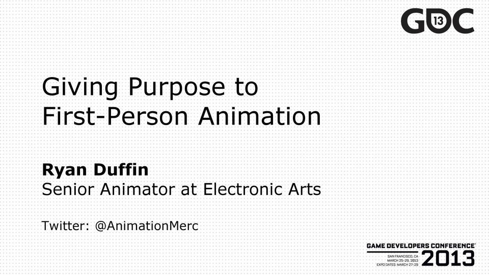 Duffin Senior Animator at