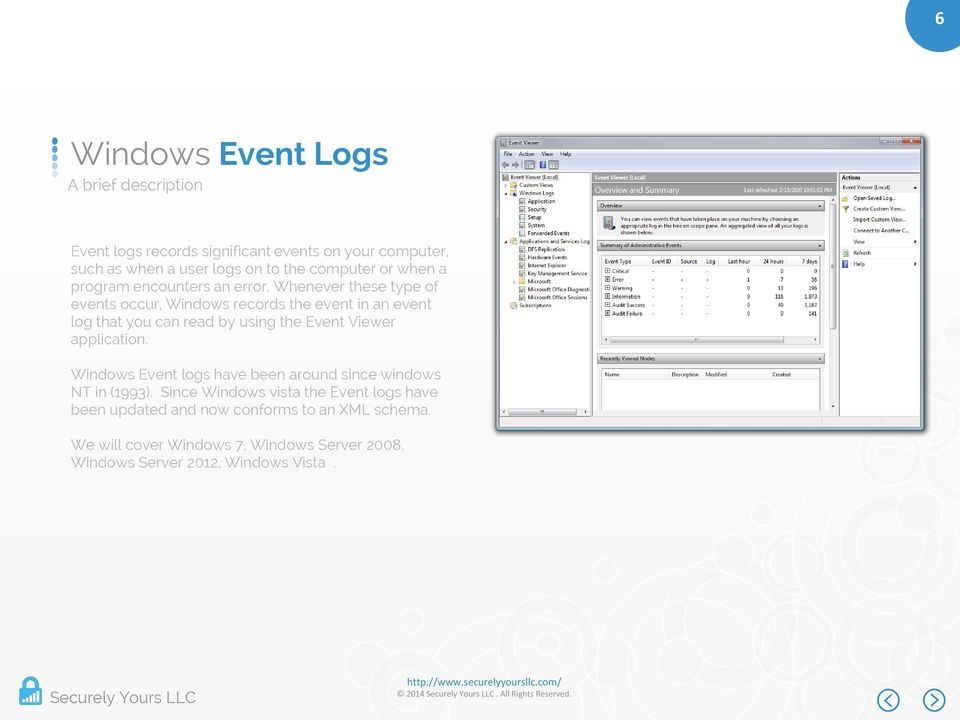 Whenever these type of events occur, Windows records the event in an event log that you can read by using the Event Viewer application.