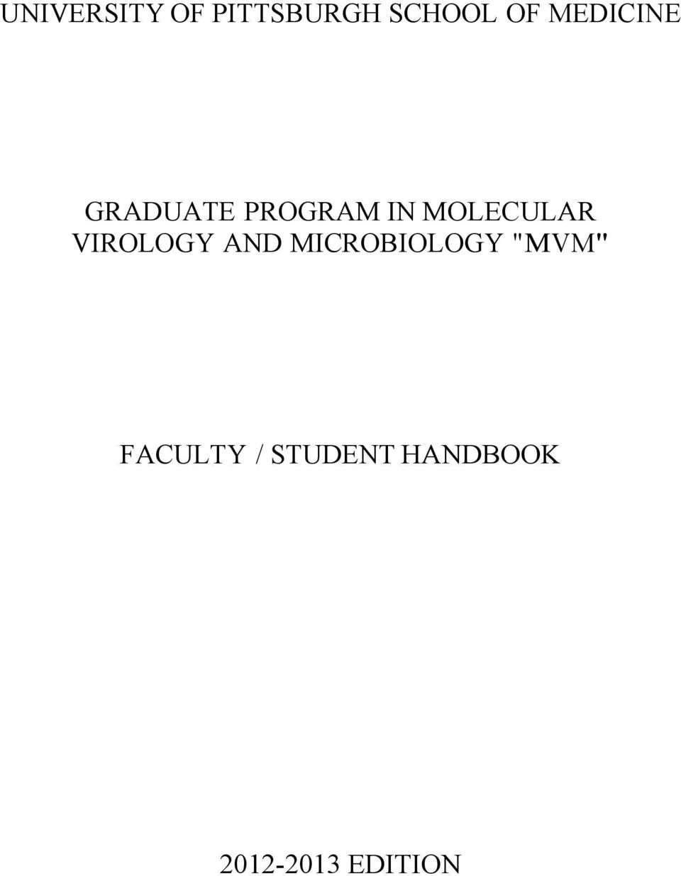 MOLECULAR VIROLOGY AND MICROBIOLOGY
