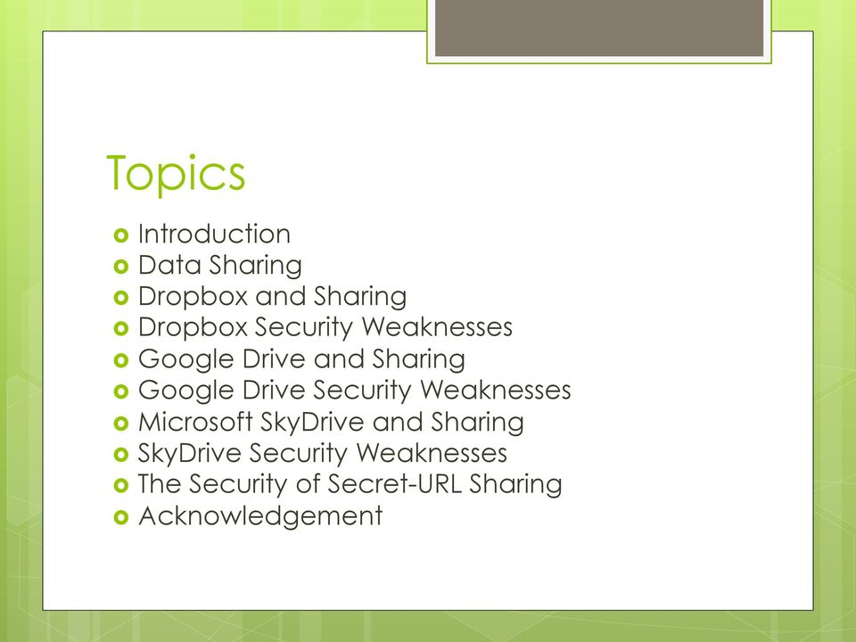 Security Weaknesses Microsoft SkyDrive and Sharing SkyDrive