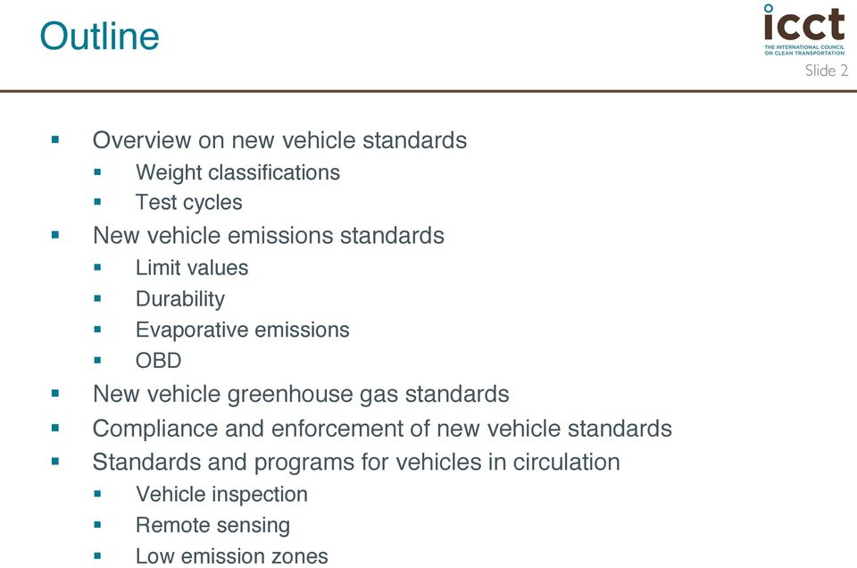 greenhouse gas standards Compliance and enforcement of new vehicle standards Standards