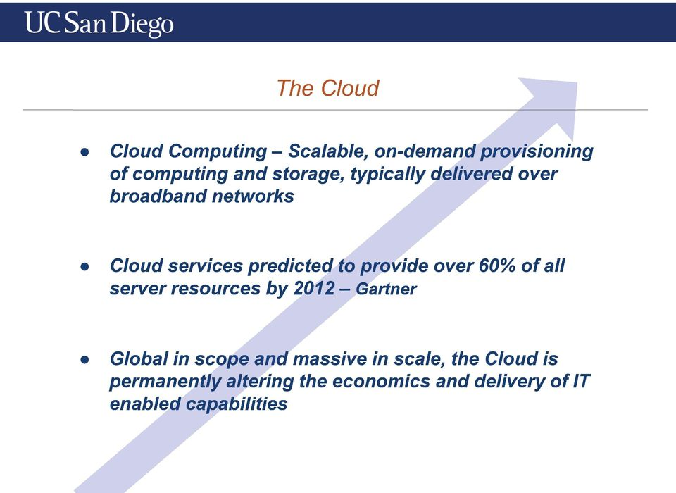 60% of all server resources by 2012 Gartner Global in scope and massive in scale,