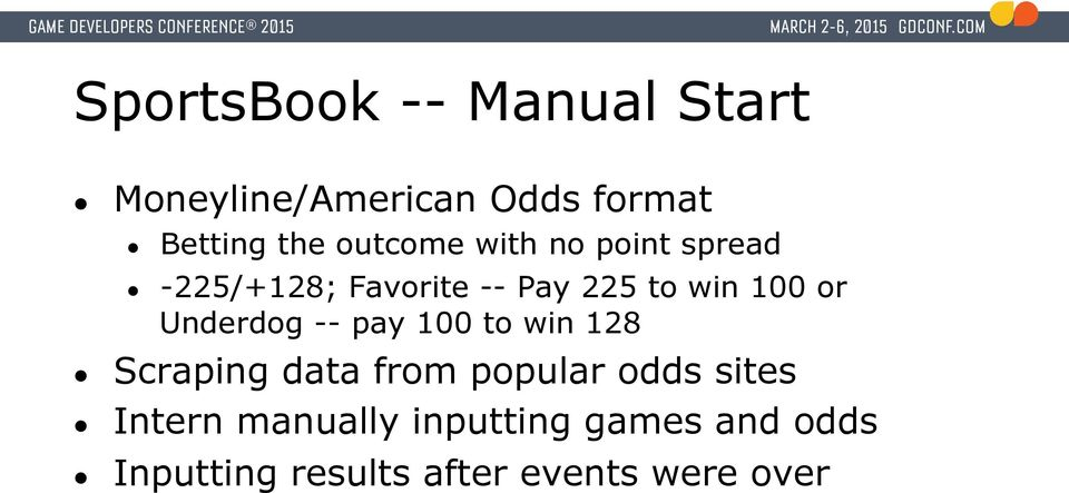 Underdog -- pay 100 to win 128 Scraping data from popular odds sites
