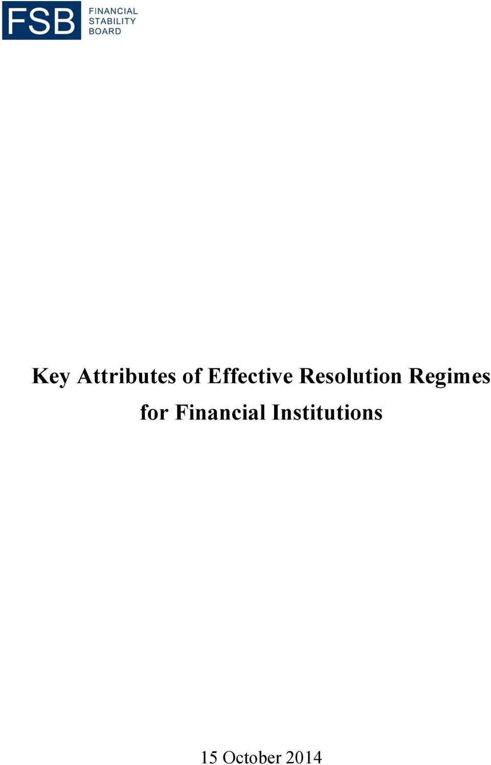Regimes for Financial