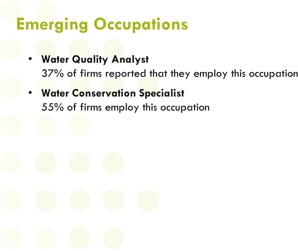 employ this occupation Water