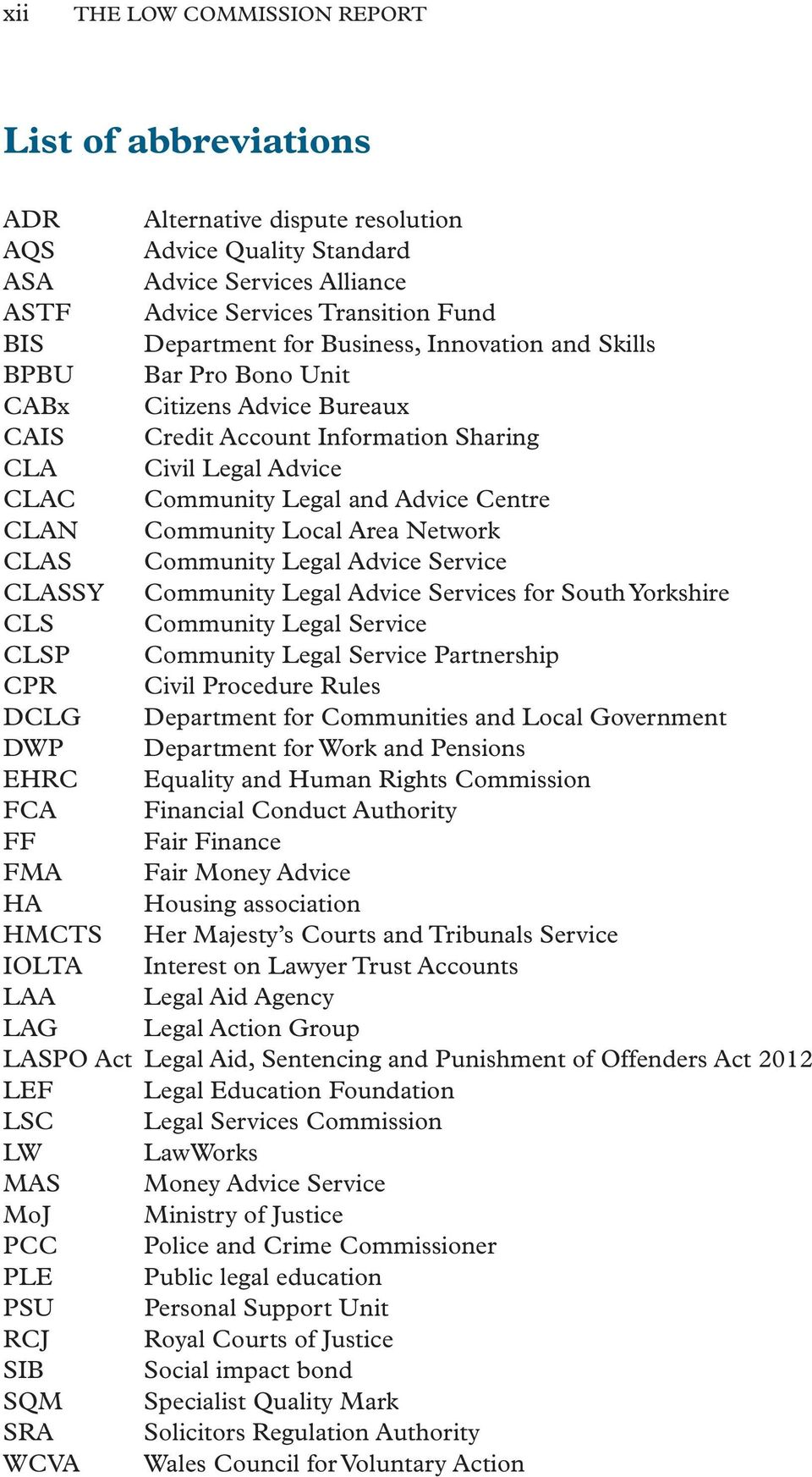 Community Local Area Network CLAS Community Legal Advice Service CLASSY Community Legal Advice Services for South Yorkshire CLS Community Legal Service CLSP Community Legal Service Partnership CPR