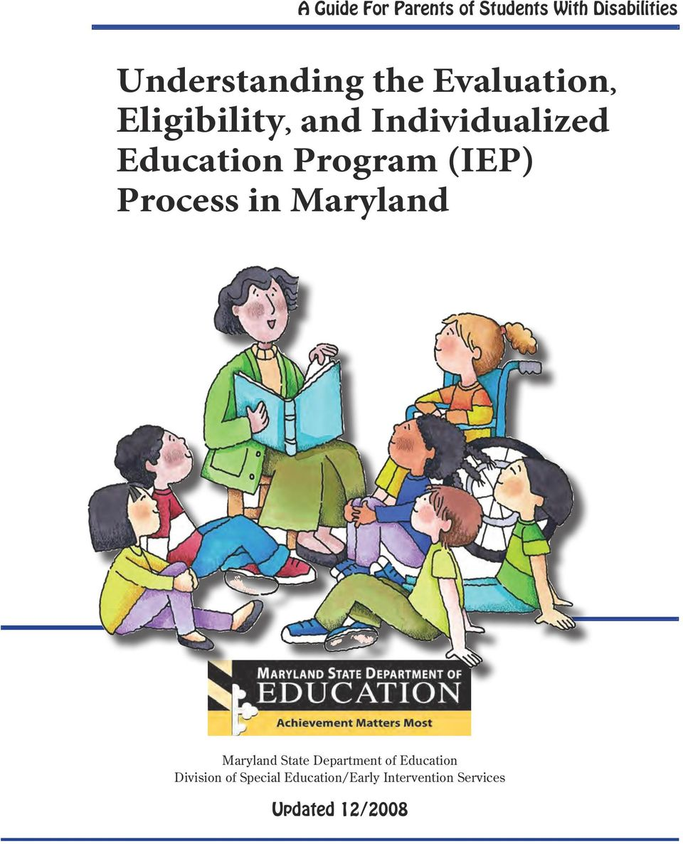Process in Maryland Maryland State Department of Education Division