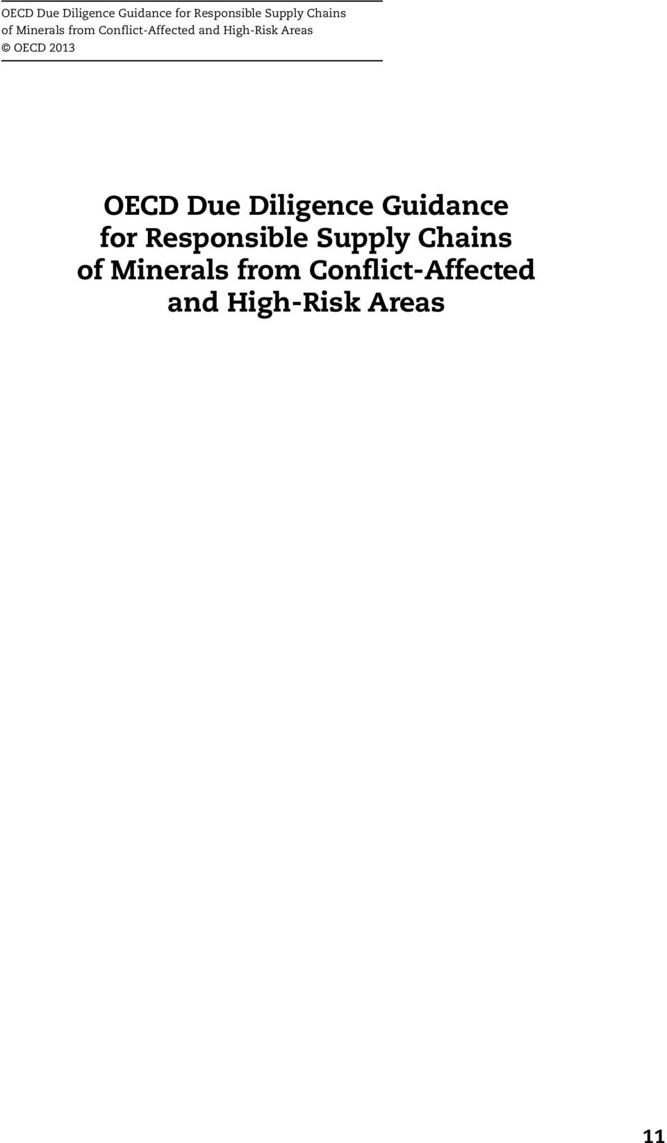 2013  of Minerals from Conflict-Affected and High-Risk