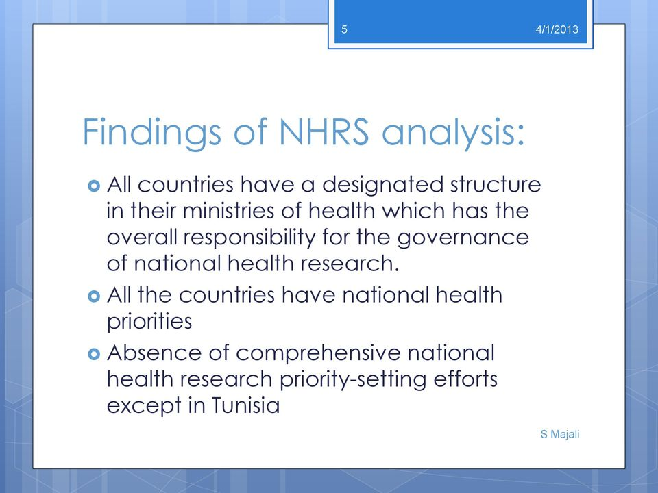 national health research.