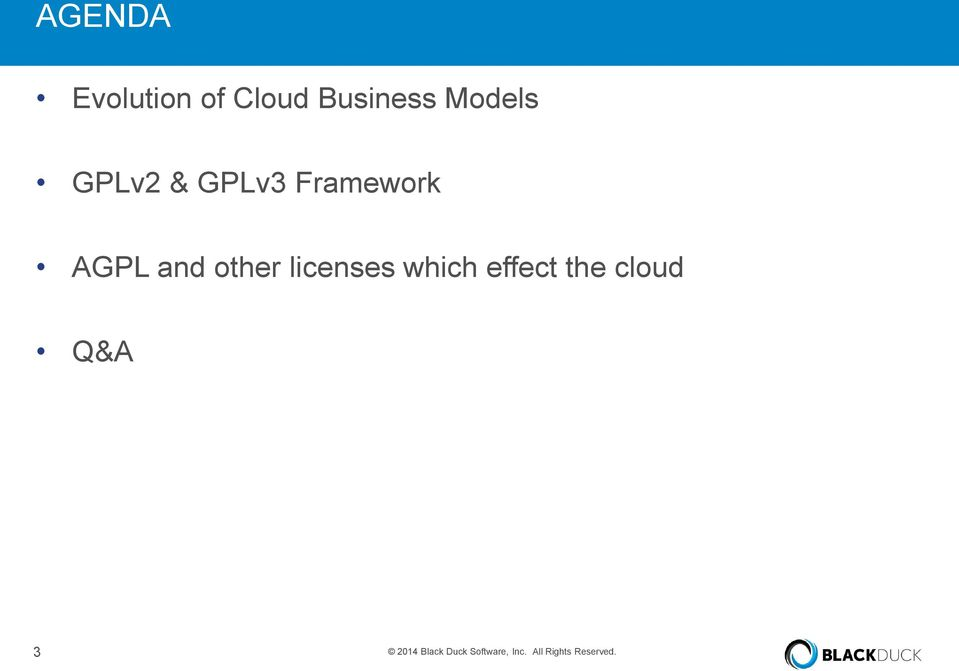 licenses which effect the cloud Q&A 3 2014