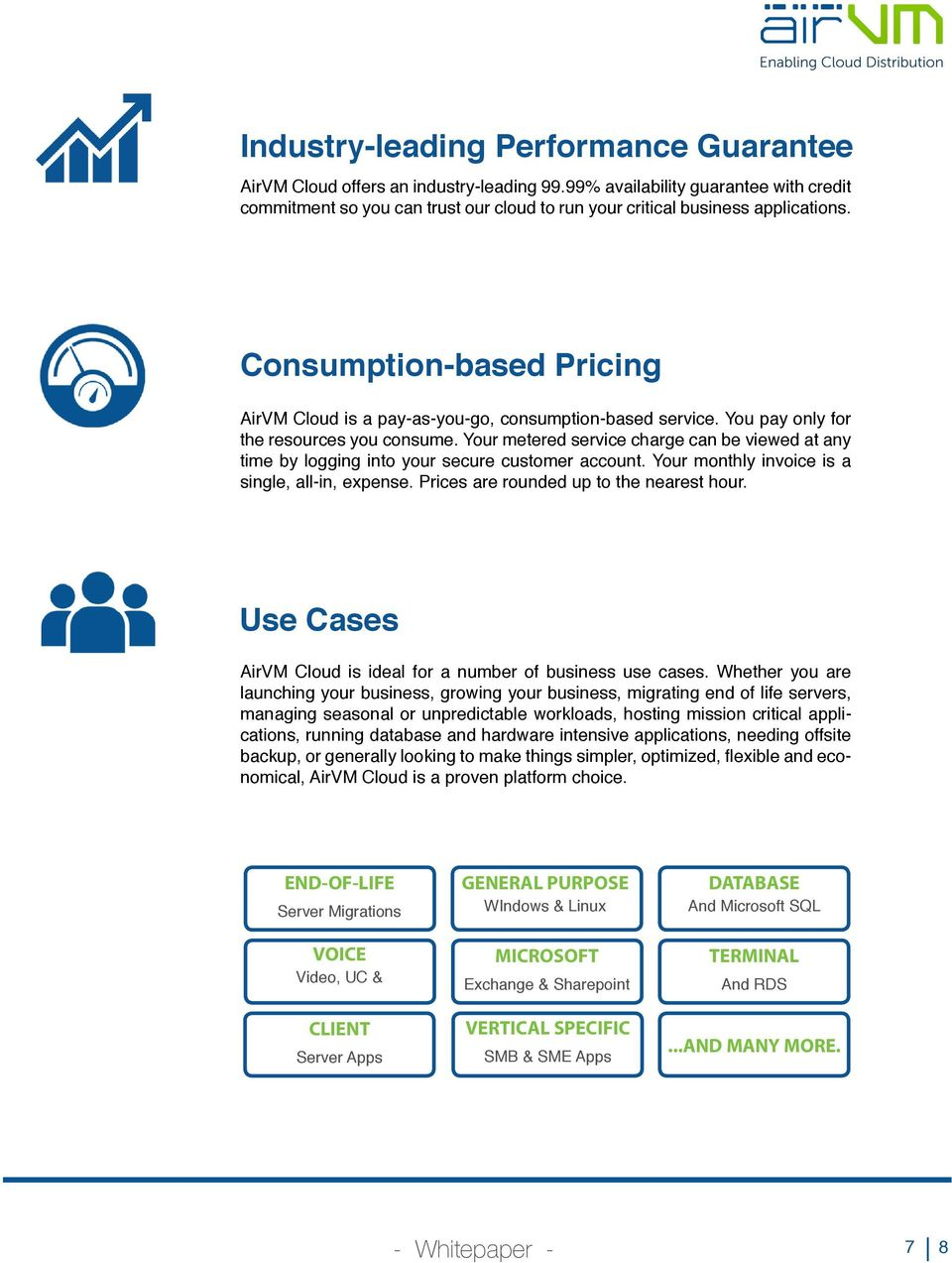 Consumption-based Pricing AirVM Cloud is a pay-as-you-go, consumption-based service. You pay only for the resources you consume.