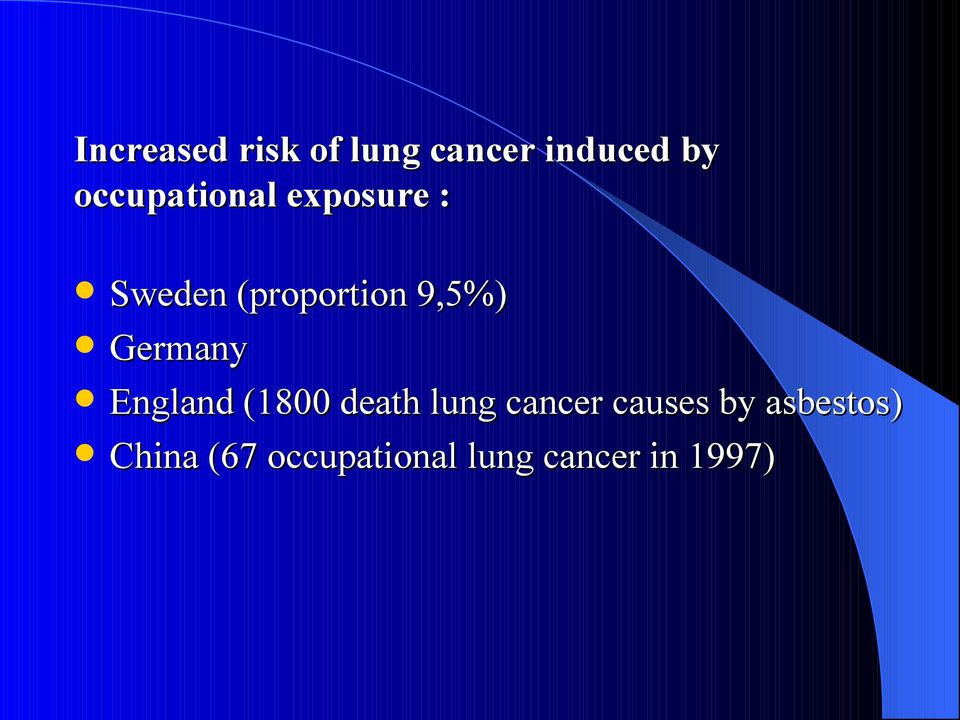 Germany England (1800 death lung cancer causes