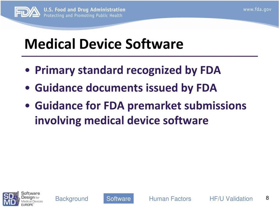 issued by FDA Guidance for FDA