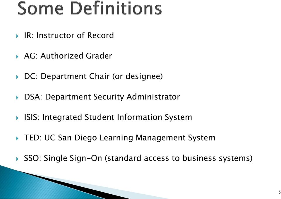 Integrated Student Information System TED: UC San Diego Learning