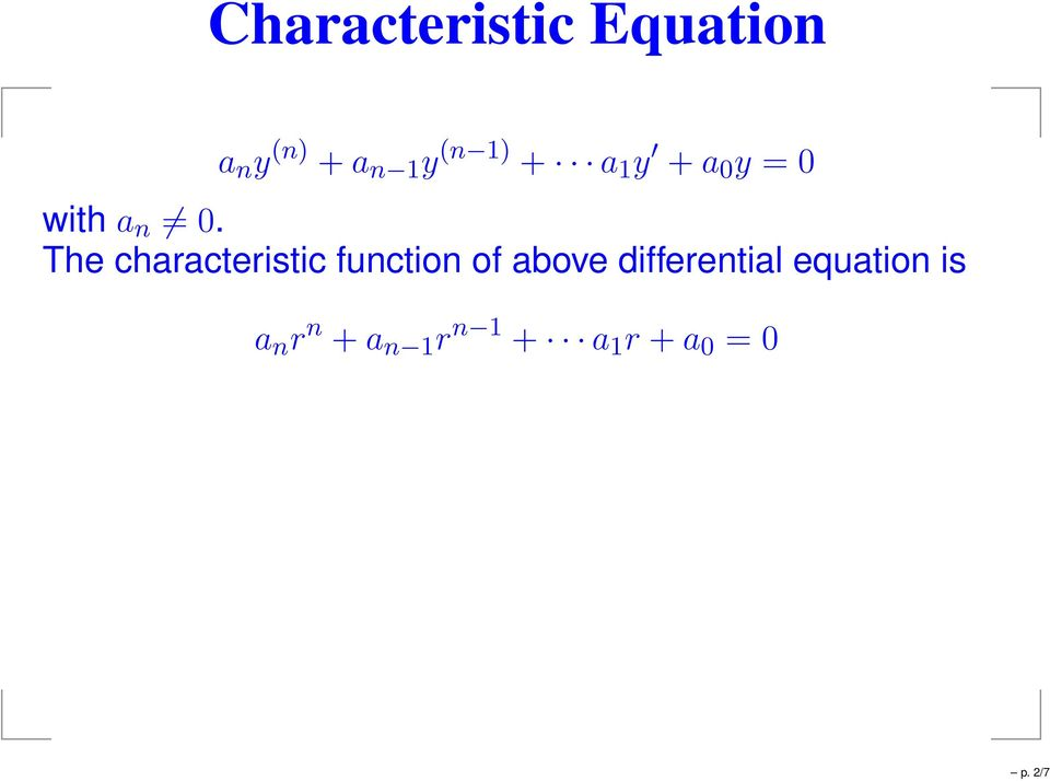 The characteristic function of above