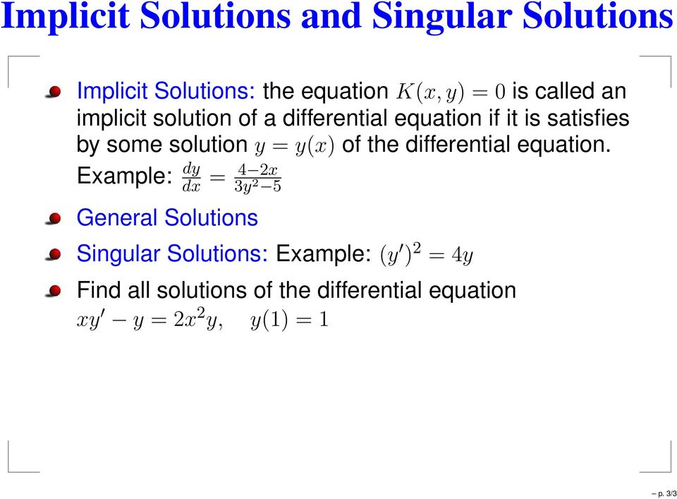 the differential equation.