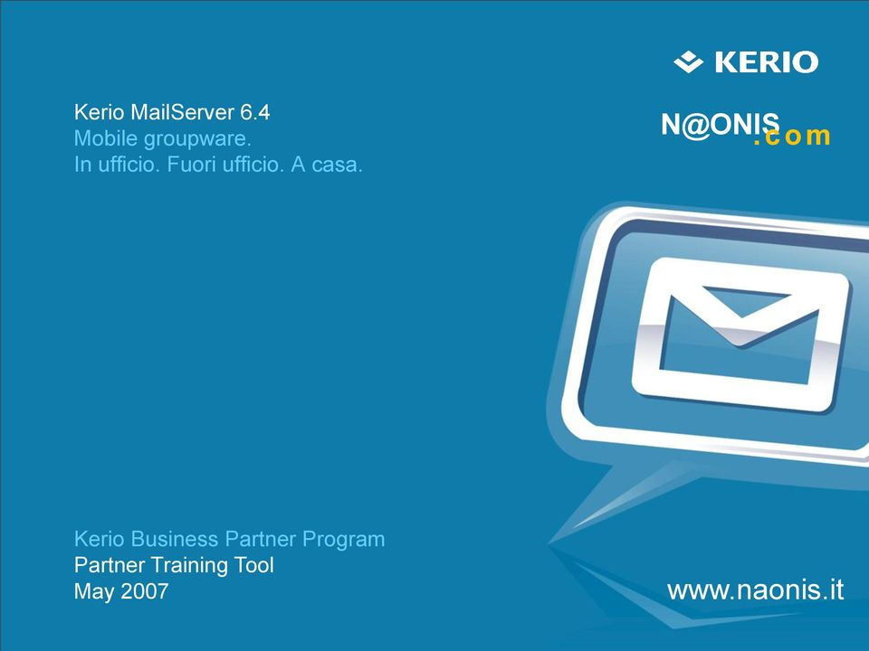 com Kerio Business Partner Program