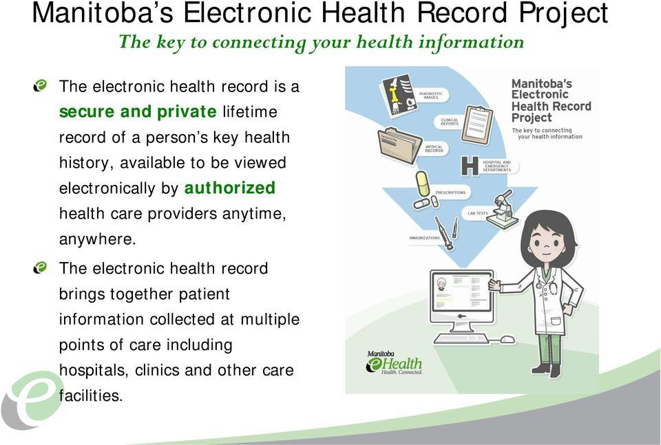 electronically by authorized health care providers anytime, anywhere.