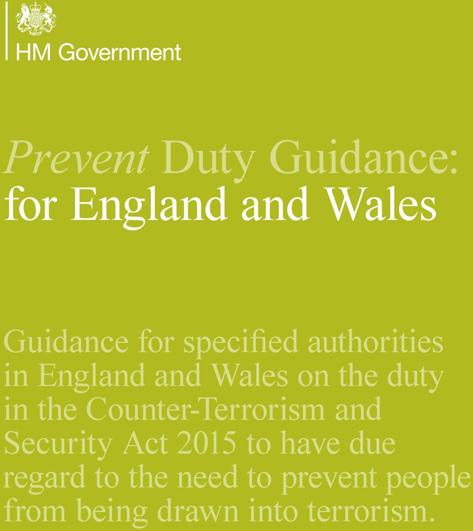 the Counter-Terrorism and Security Act 2015 to have due