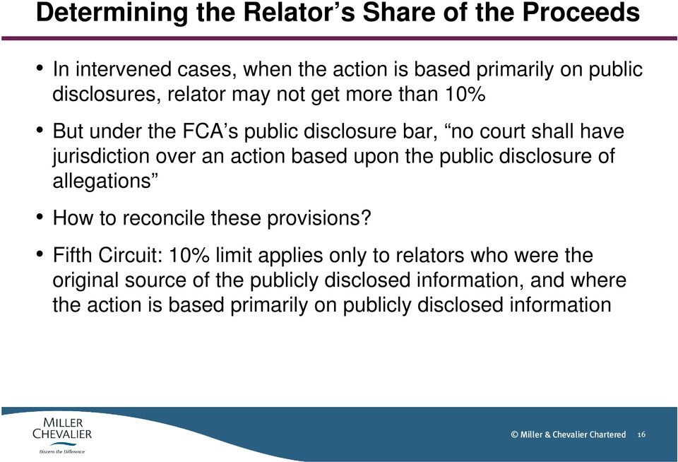 upon the public disclosure of allegations How to reconcile these provisions?