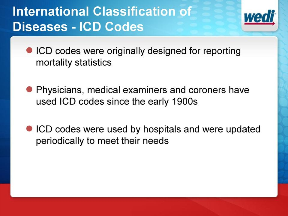 medical examiners and coroners have used ICD codes since the early 1900s