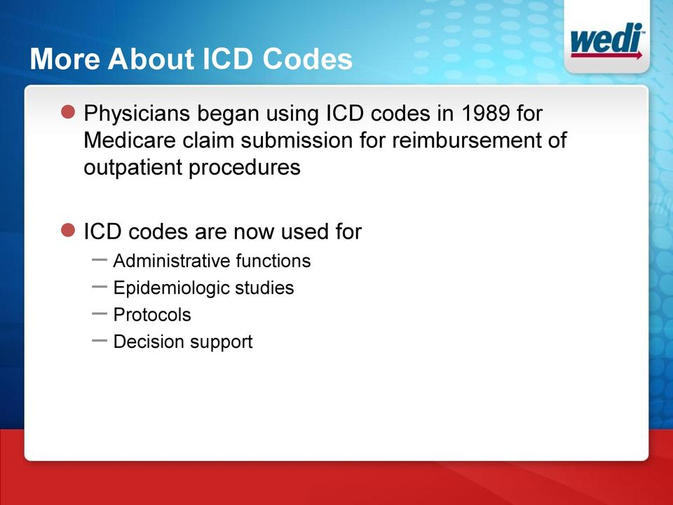 outpatient procedures ICD codes are now used for